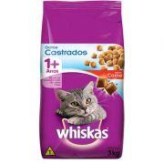 Ração WHISKAS® Gatos Castrados Sabor Carne 3kg