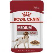 Sachê Royal Canin Medium Adult para Cães Adultos de Raças Médias 140g
