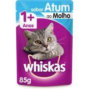 Sachê Whiskas Atum ao Molho para Gatos Adultos 85g
