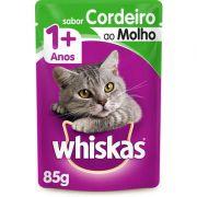 Sachê Whiskas Cordeiro ao Molho para Gatos Adultos 85g