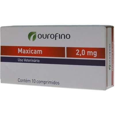 Anti-inflamatório Ouro Fino Maxicam 2,0 mg- 10 Comprimidos