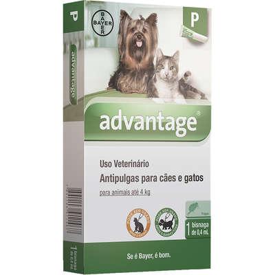 Antipulgas Advantage para Cães e Gatos  P (1 Bisnaga)