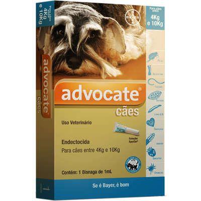 Antipulgas Bayer Advocate para Cães de 4 a 10 Kg - 1,0 mL (1 Bisnaga)