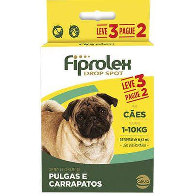 Antipulgas e Carrapatos Ceva Fiprolex Drop Spot de 0,67 mL para Cães até 10 Kg