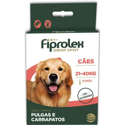 Antipulgas e Carrapatos Ceva Fiprolex Drop Spot de 2,68 mL para Cães de 21 a 40 Kg