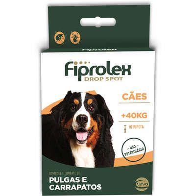 Antipulgas e Carrapatos Ceva Fiprolex Drop Spot de 4,02 mL para Cães Acima de 41 Kg