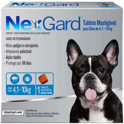 Antipulgas e Carrapatos Merial NexGard 28,3 mg para Cães de 4,1 a 10 Kg (1 comprimido individual)