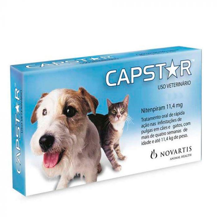 Antipulgas Novartis Capstar 11 mg para Cães e Gatos até 11,4 Kg (1 comprimido individual)