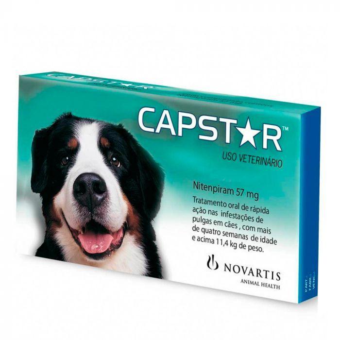 Antipulgas Novartis Capstar 57 mg para Cães acima de 11,4 Kg (1 comprimido)