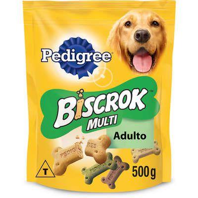 Biscoito Pedigree Biscrok Multi para Cães Adultos 500g