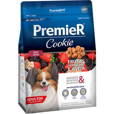 Biscoito Premier Pet Cookie Frutas Vermelhas e Aveia para Cães Adultos 250grs