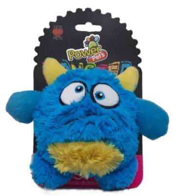 Brinquedo de Pelúcia para Cães Power Pets Monster Azul Médio