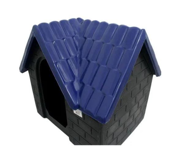 Casa Plástica Bangalô N.1 Azul e Cinza