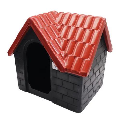 Casa Plástica Bangalô N.3 Vermelha e Cinza