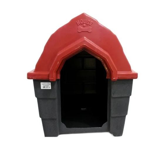 Casa Plastica Muvuca N.3 Vermelha e Cinza