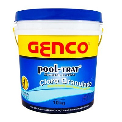 Cloro Genco Pool Trat balde 10 kg para piscinas