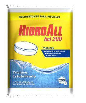 Cloro Hidroall Tablete HCL - 200 Grs
