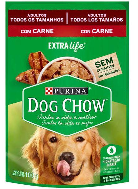 CÓPIA - Sachê Purina Dog Chow Carne para Cães Adultos 100g