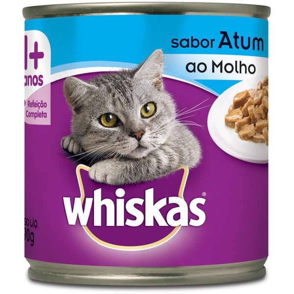 Lata Whiskas Atum ao Molho para Gatos Adultos - 290 g