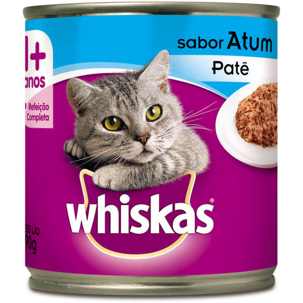 Lata Whiskas Patê de Atum para Gatos Adultos - 290 g