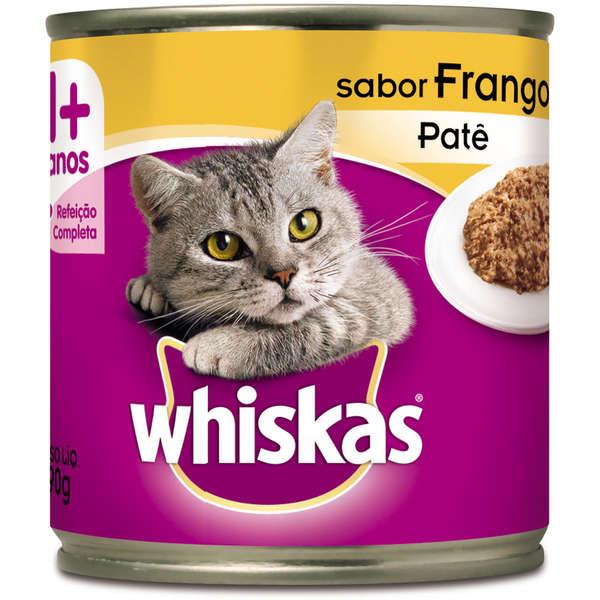 Lata Whiskas Patê de Frango para Gatos Adultos - 290 g