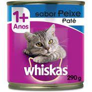 Lata Whiskas Patê de Peixe para Gatos Adultos - 290 g