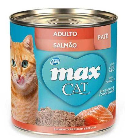 Max Cat Lata Adultos Patê Salmão 280g