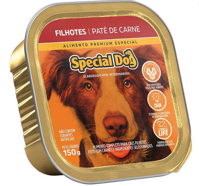 Patê Special Dog sabor Carne para Cães Filhotes 150g
