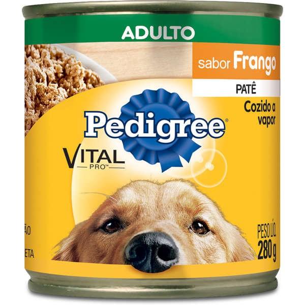 Pedigree Lata Patê de Frango para Cães Adultos - 280 g