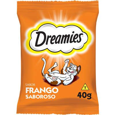 Petisco Dreamies Frango Para Gatos Adultos 40g