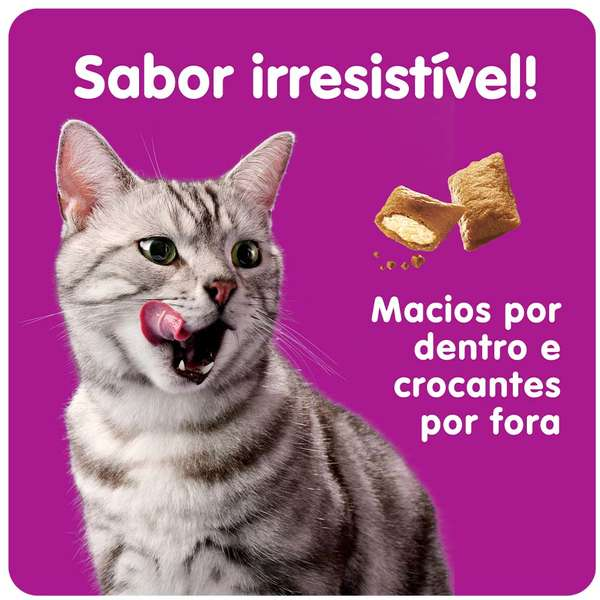 Petisco Whiskas Temptations Antibola de Pelo para Gatos Adultos - 40 g