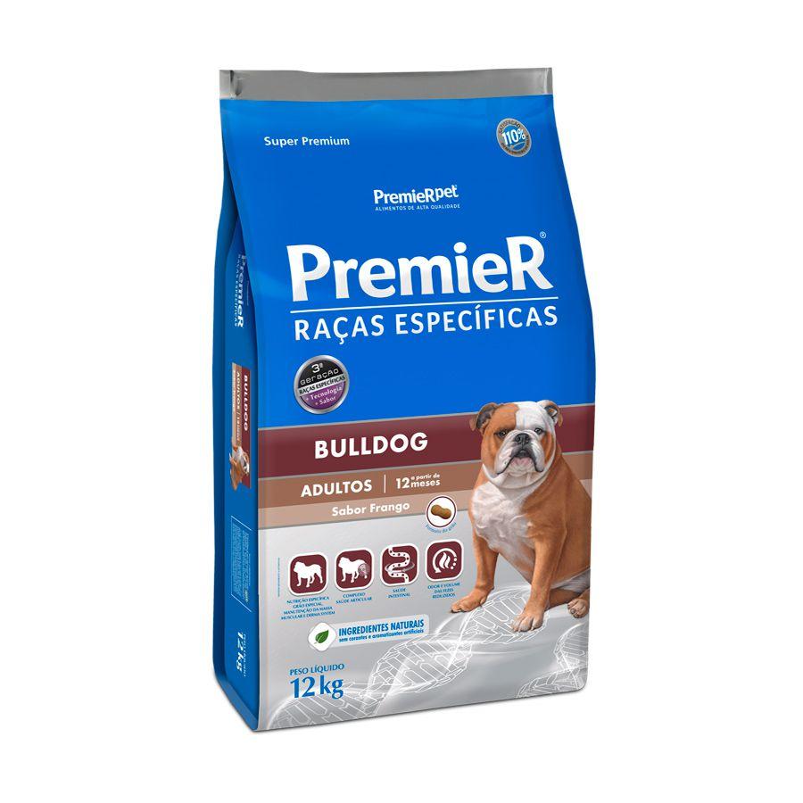Premier Bulldog Ração Raças Específicas para Cães Adultos - 12k