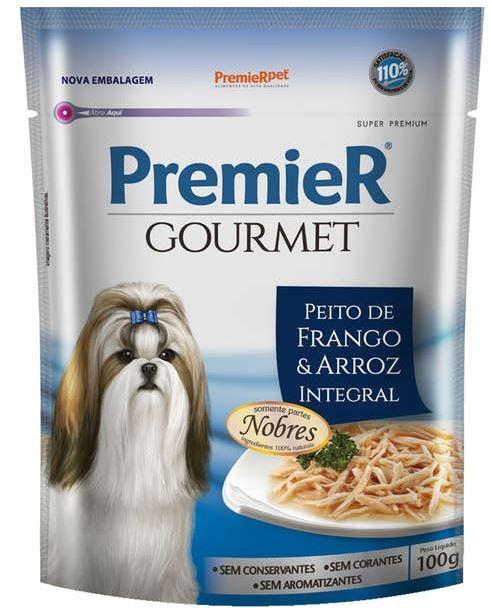 Premier Gourmet Peito De Frango E Arroz  Para Cães 100g