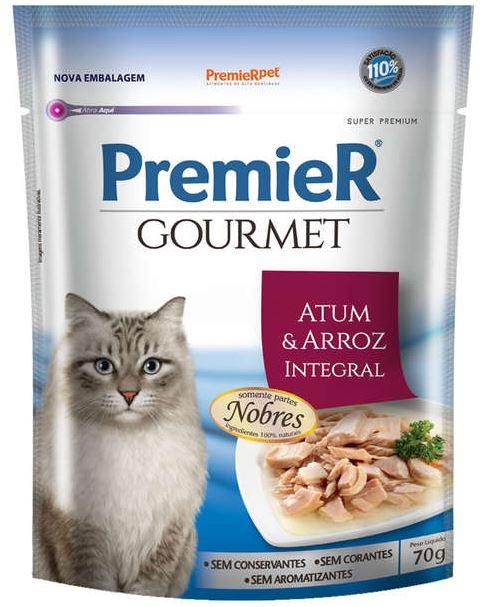 Premier Gourmet Sachê Atum para Gatos Adultos 70g