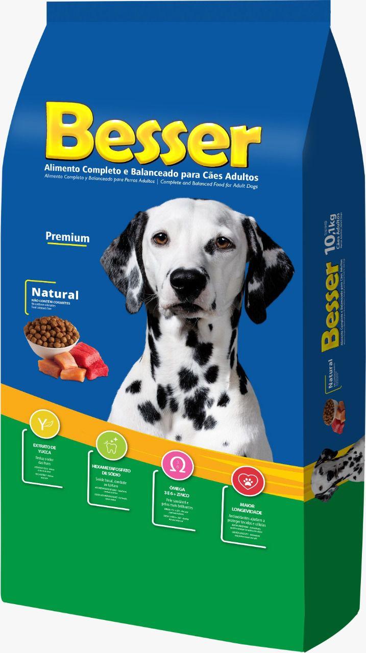 Ração Besser Natural Premium para Cães Adulto 15k