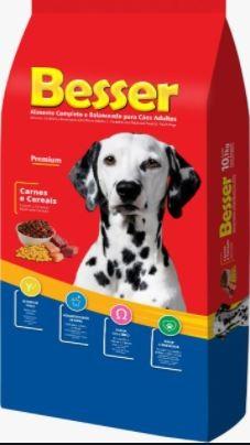 Ração Besser Natural Premium para Cães  Adultos Carne e Cereais 10k