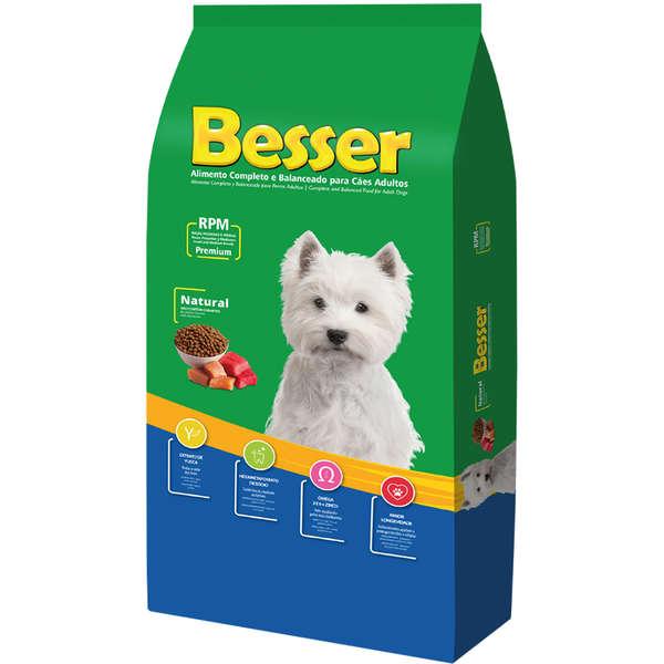 Ração Besser Natural Premium para Cães Adultos Raças Pequenas e Médias 20k