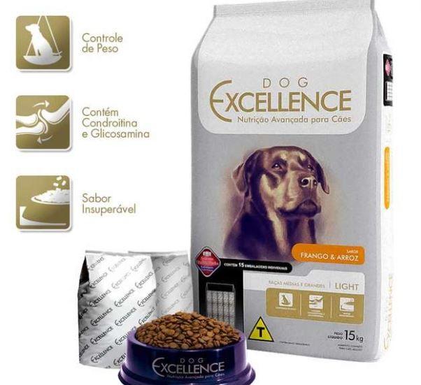 Ração Dog Excellence Cães Adulto Light Frango e arroz 15kg