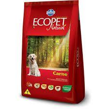 Ração Ecopet Carne cães adultos 15 k