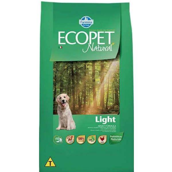 Ração Farmina Ecopet Natural Light para Cães Adultos de Raças Médias e Grandes 15k