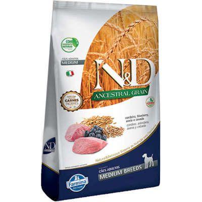 Ração Farmina N&D Ancestral Grain Cordeiro Cães Adultos Raças Médias 10 k