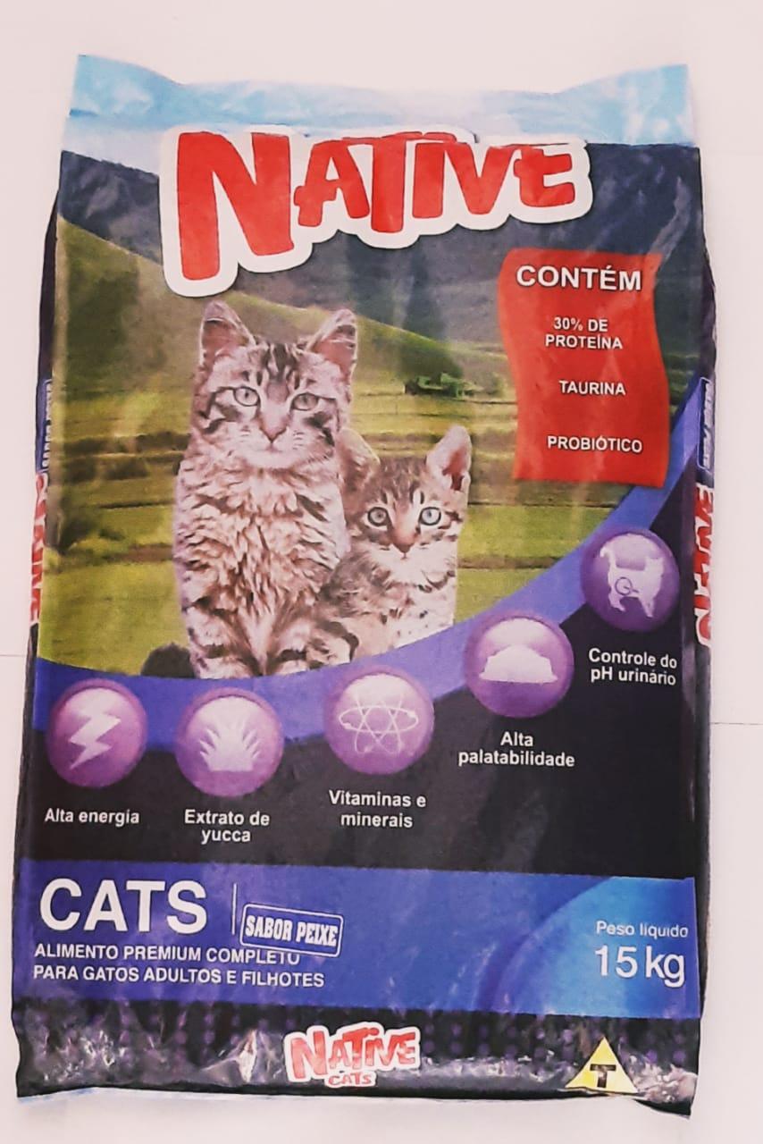 Ração Gatos Native Cats Peixe 15k