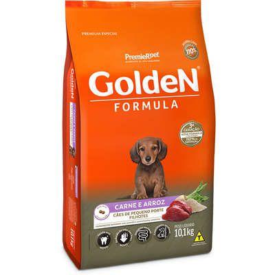 Ração Golden Carne & Arroz Cães Pequenos Filhotes 10.1k
