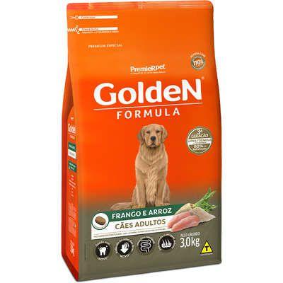 Ração Golden Formula Cães Adultos Frango e Arroz 3k
