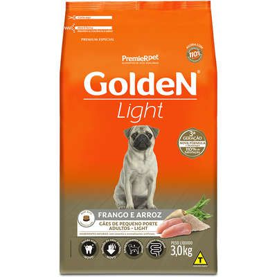 Ração Golden Formula Cães Adultos Light Mini Bits Frango e Arroz 3k
