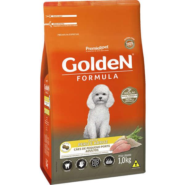 Ração Golden Formula Cães Adultos peru e Arroz Mini Bits 1k