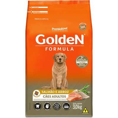Ração Golden Formula Cães Adultos Salmão e Arroz 3k