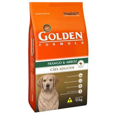 Ração Golden Formula para cães adultos Frango & Arroz 15 k