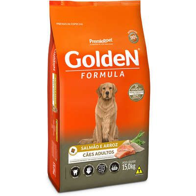 Ração Golden Formula Salmão & Arroz cães adultos 15 k