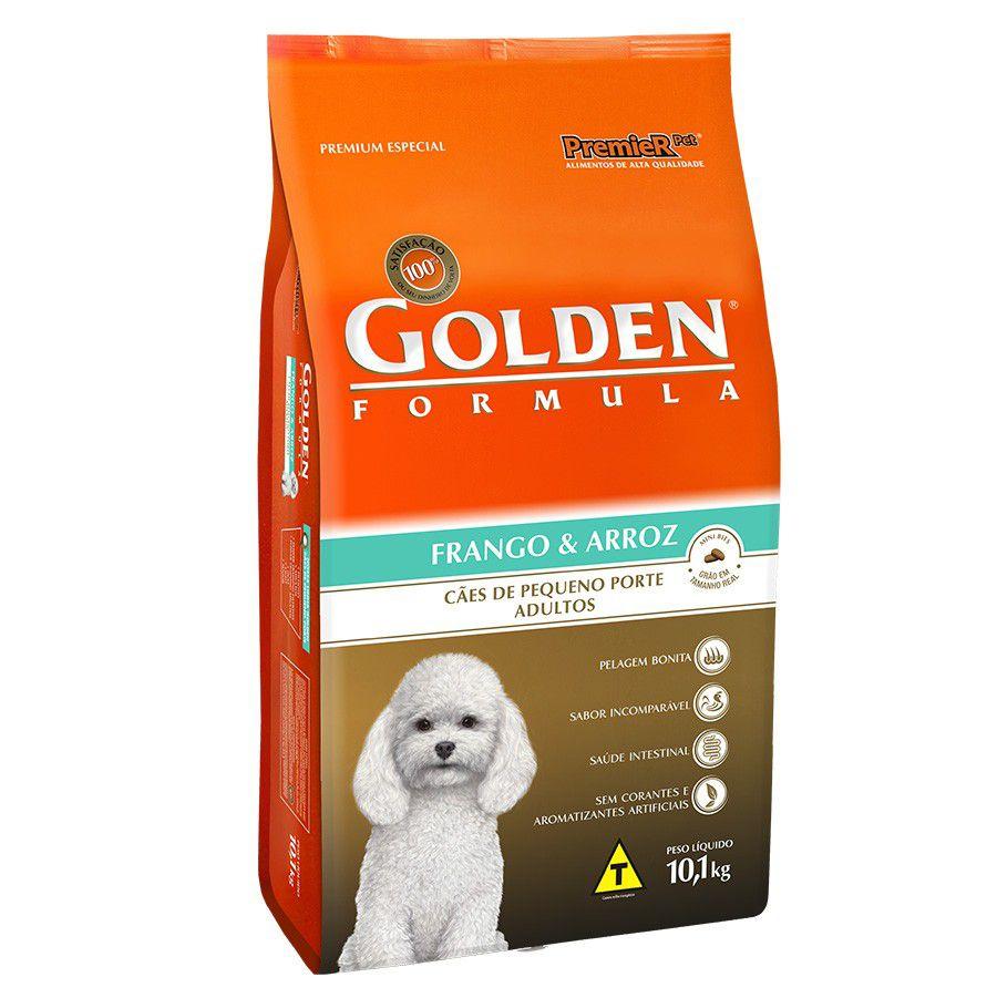 Ração Golden Frango e Arroz Cães Pequenos Porte Adultos 10.1k